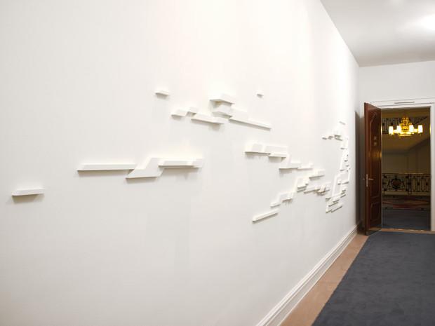 Heiko Zahlmann, ohne Titel, 2012, Beton und Dispersion, Hotel Atlantic, Hamburg