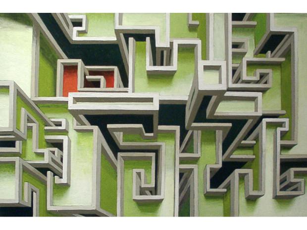 """""""Rocket"""", 2002 size 40 x 60 cm acrylic on canvas"""